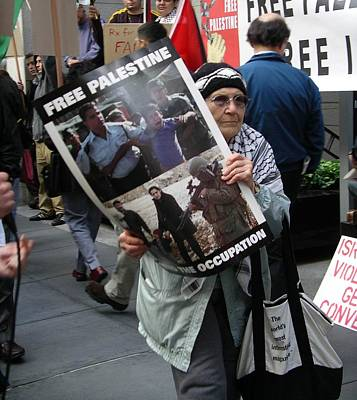 Poster featuring the photograph End The Occupation by Cynthia Marcopulos