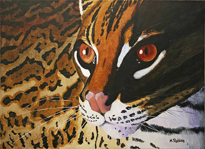 Endangered - Ocelot Poster by Mike Robles
