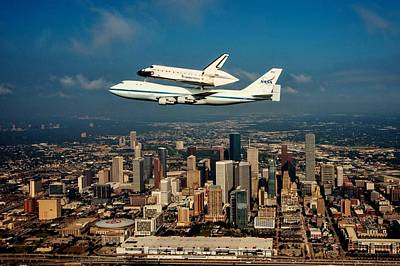 Endeavor Over Houston Poster by Benjamin Yeager