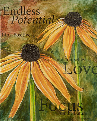 Poster featuring the painting Endless Potential by Lisa Fiedler Jaworski