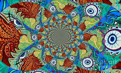 Energy Sprite Kaleidosope Poster