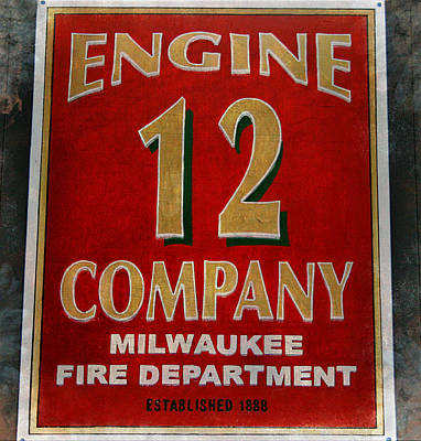Engine 12 Poster by Susan  McMenamin