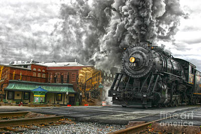 Engine 734 On The Western Maryland Scenic Railroad  Poster