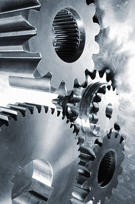 Engineering And Technology Gears Poster