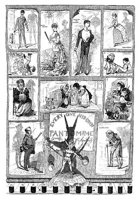 England Pantomime, 1883 Poster