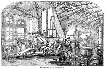 England Paper Mill, 1854 Poster