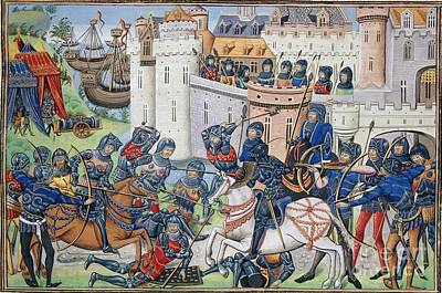 English Army At Brest In 1386 Poster by British Library