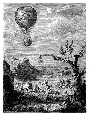English Channel Balloon Crossing Poster