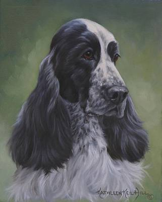 English Cocker Poster by Kathleen  Hill