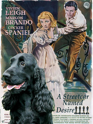 English Cocker Spaniel Art - A Streetcar Named Desire Poster by Sandra Sij