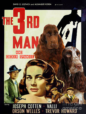 English Cocker Spaniel Art - A The Third Man Poster by Sandra Sij