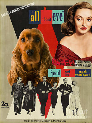 English Cocker Spaniel Art - All About Eve Poster by Sandra Sij