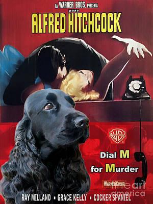 English Cocker Spaniel Art - Dial M For Murder Poster