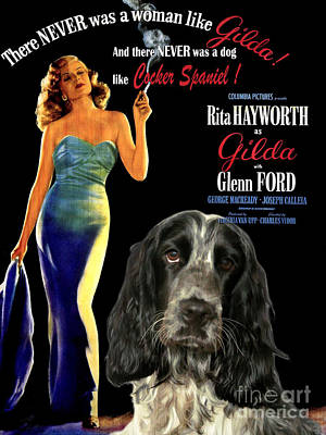 English Cocker Spaniel Art - Gilda Poster by Sandra Sij