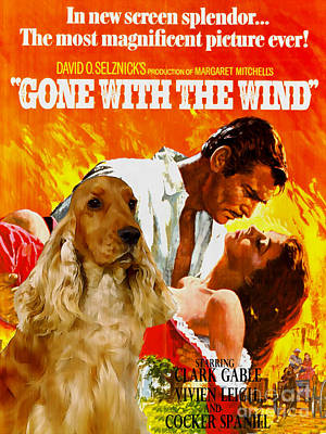 English Cocker Spaniel Art - Gone To The Wind Poster by Sandra Sij