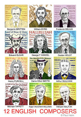 English Composers Poster