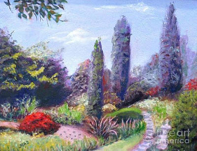Poster featuring the painting English Estate Gardens by Marcia Dutton