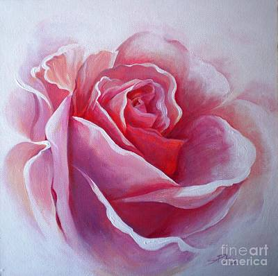 English Rose Poster by Sandra Phryce-Jones