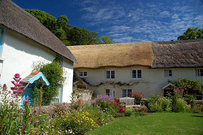 English Thatched Cottages Poster