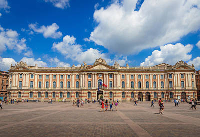 Enjoying The Capitole De Toulouse  Poster
