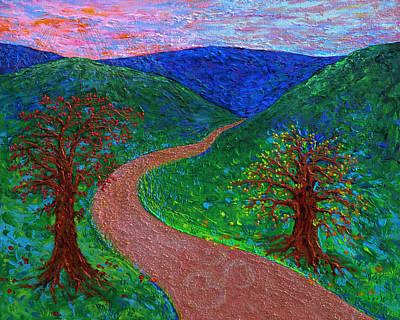 Enlightened Path - Dusk Poster by Julie Turner