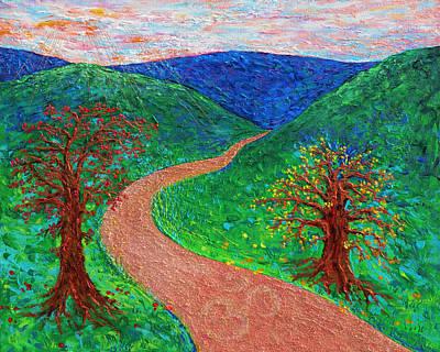 Enlightened Path Poster by Julie Turner