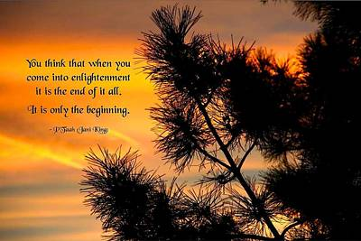 Enlightenment Begins Poster by Mike Flynn
