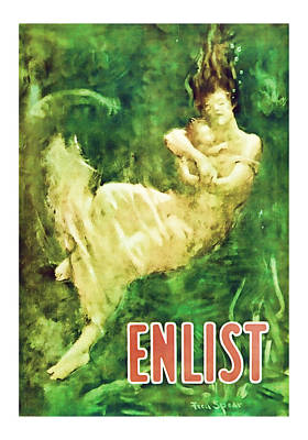 Enlist World War 1 Enlistment Art Poster