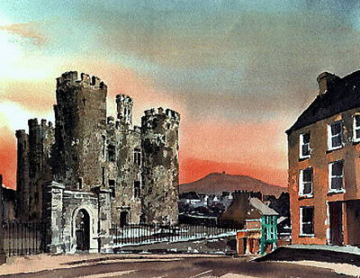 Enniscorthy Castle Wexford Poster by Val Byrne