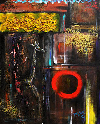Poster featuring the painting Enso Abstract by Patricia Lintner