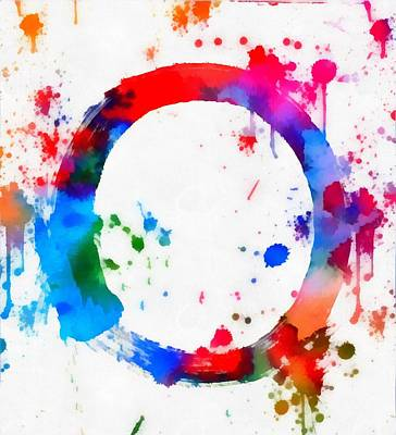 Enso Circle Paint Splatter Poster by Dan Sproul