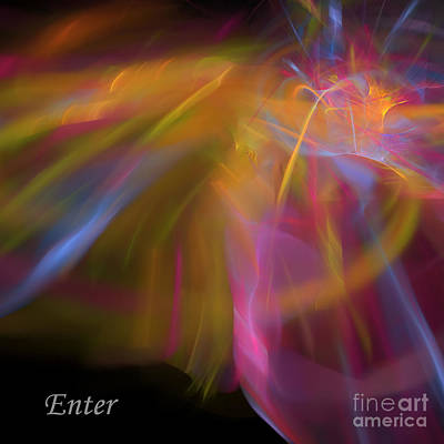 Poster featuring the digital art Enter by Margie Chapman