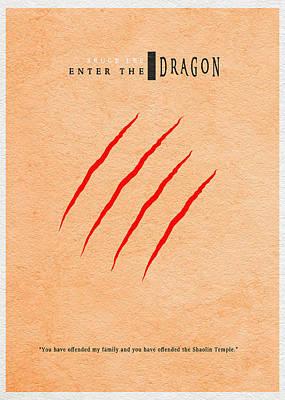 Enter The Dragon Poster by Ayse Deniz