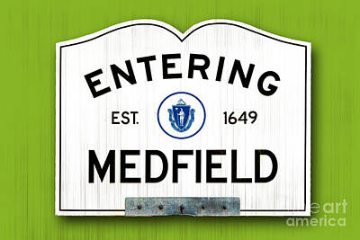 Entering Medfield Poster by K Hines