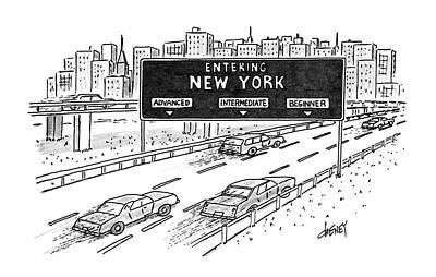 Entering New York: Beginner Poster by Tom Cheney