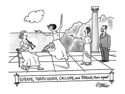 Enterpe, Terpsichore, Calliope, And Bernie Poster