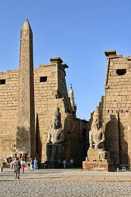 Entrance To Karnak Temple With Obelisk Poster