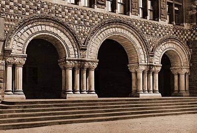 Entrance To Law School, Harvard University, Harvard Law Poster