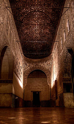Entrance To The Ambassadors Hall In The Alhambra Poster by Weston Westmoreland