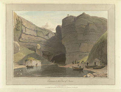 Entrance To The Cave Of Smooe Poster by British Library