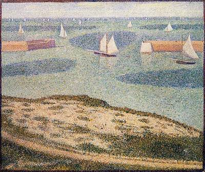 Entrance To The Harbor Poster by Georges Seurat