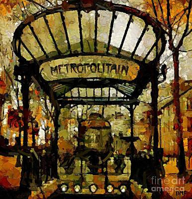 Entrance To The Paris Metro Poster