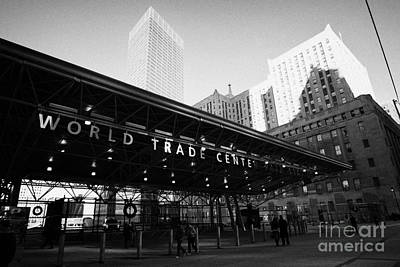 Entrance To The Rebuilt Path Train Station Ground Zero World Trade Center Site New York City Poster by Joe Fox