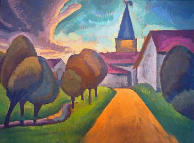 Entree Village Poster by Roger de La Fresnaye