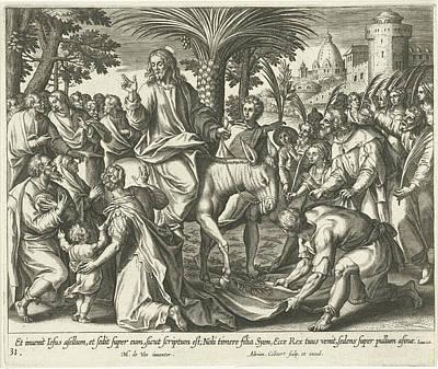 Entry Into Jerusalem, Adriaen Collaert Poster
