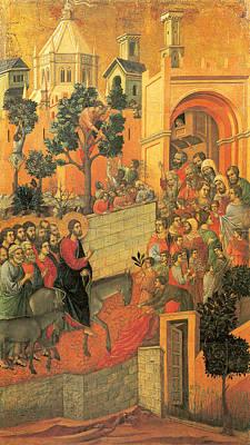 Entry Into Jerusalem Poster by Duccio di Buoninsegna