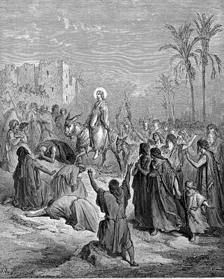 Entry Of Jesus Into Jerusalem Poster by Celestial Images