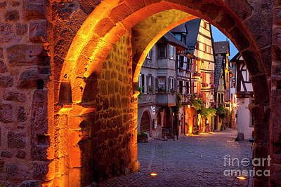 Entry To Riquewihr Poster by Brian Jannsen