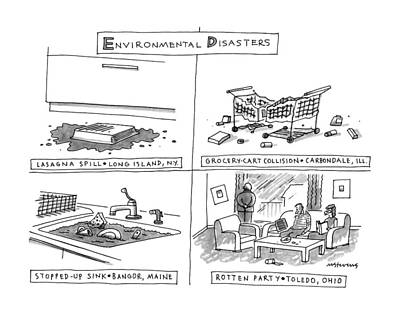 Envrionmental Disasters Poster by Mick Stevens