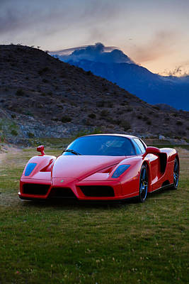 Enzo Ferrari Sexy Beast Poster